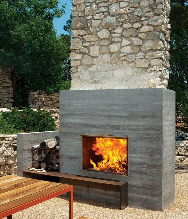 12 Amazing Modern Outdoor Fireplaces - Design Milk on Amazing Outdoor Fireplaces  id=76556