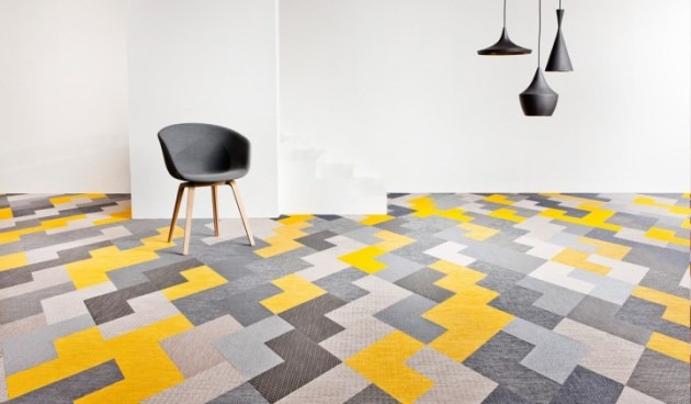 12 Creative Ways To Use Floor Tile   Design Milk 12 Rooms with Creative Tile Floors