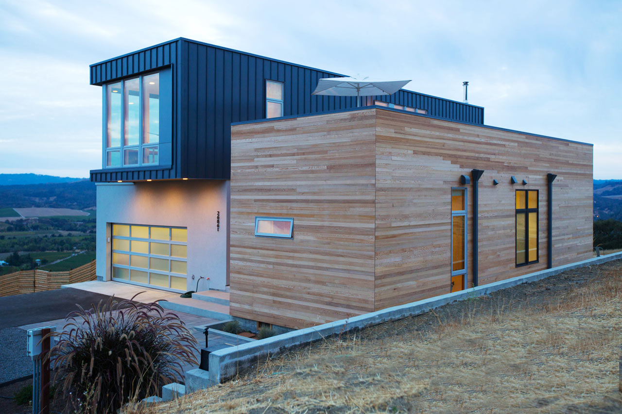 A Prefab Modular Home In The Hills Of Sonoma County