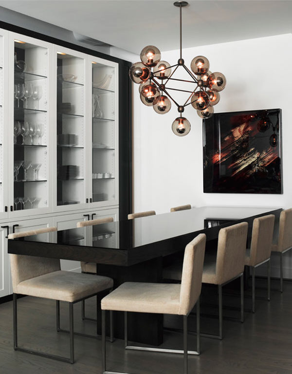 12 Modern Dining Rooms With Statement Chandeliers