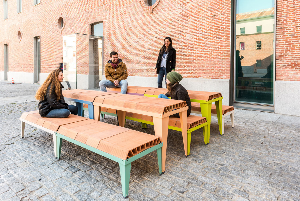 a modular outdoor furniture system made by stacking components