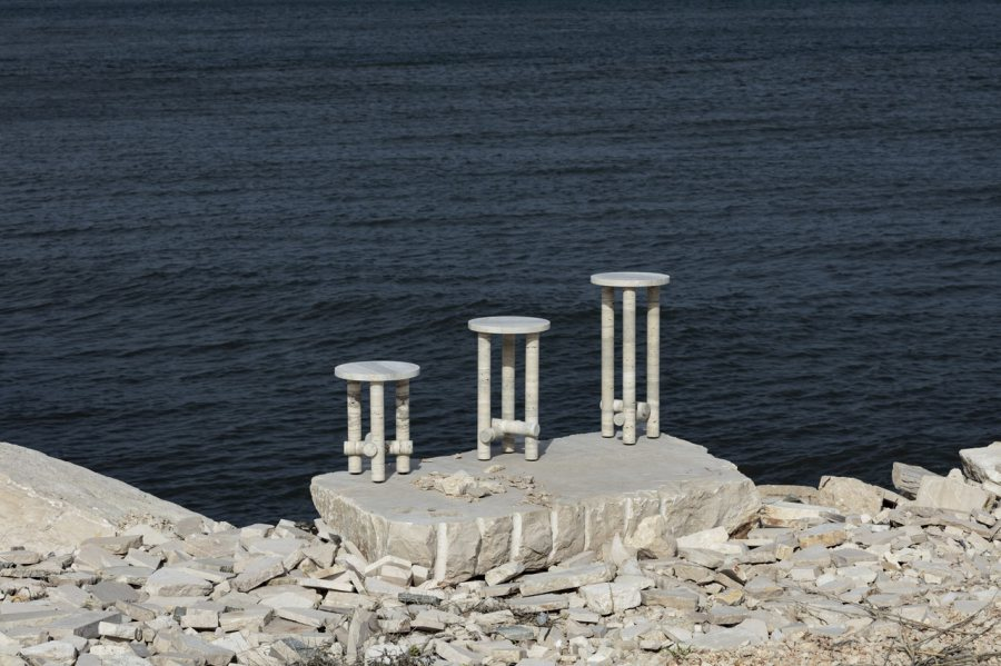 Ocean Travertine Stone Collection by Clément Brazille
