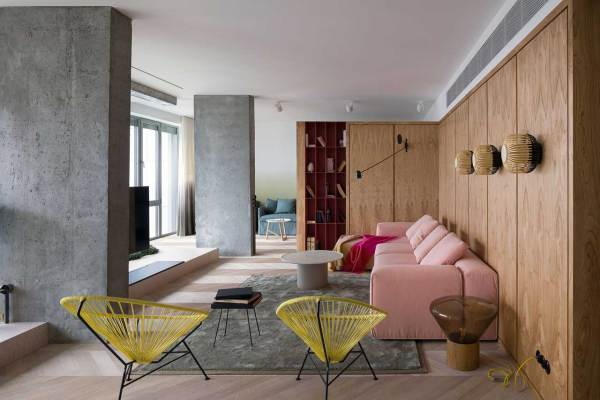 indoor gardens apartment design A Colorful, Kiev Apartment with an Indoor Garden by Olha
