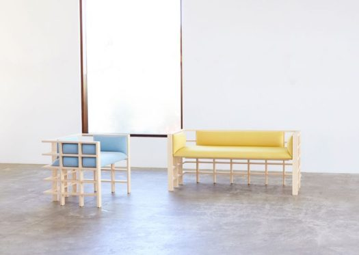 Straight Lines Is a Collection of Gridded Furniture by Elliot Bastianon