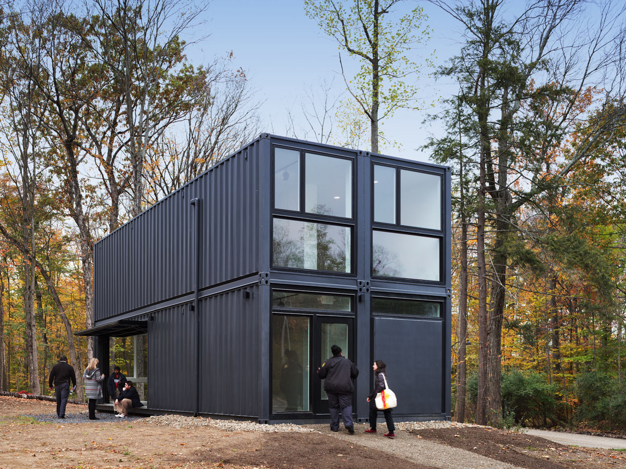 Best Kitchen Gallery: 4 Shipping Containers Be E A Classroom At Bard College Design Milk of Lab Shipping Container on rachelxblog.com