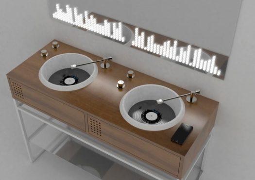 Olympia Ceramica Introduces Vinyl Inspired Bathroom Sinks by Gianluca Paludi