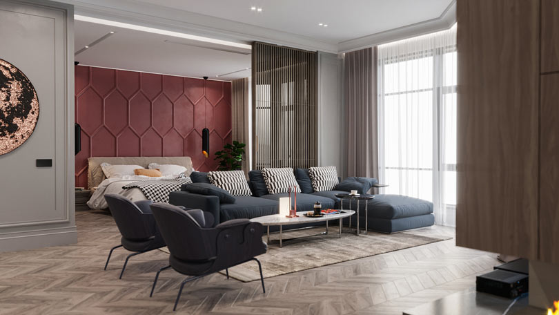 A Kiev Apartment Gets A Modern Interior With A French Feel