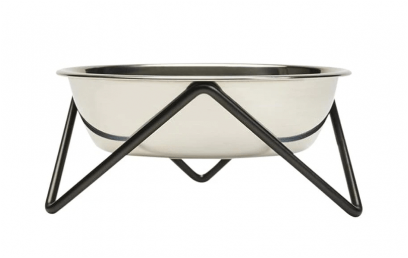 pet bowl and stand