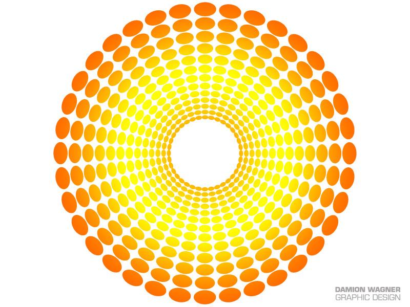 Dots Orange Tunnel