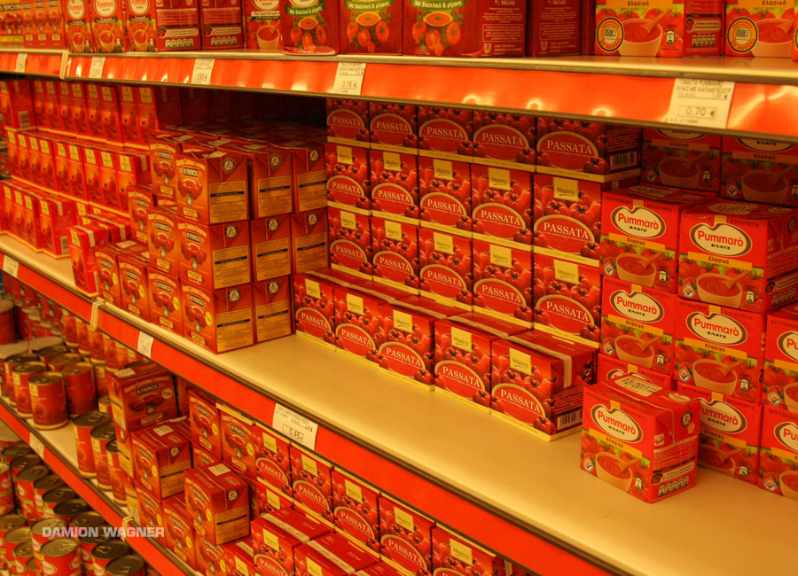 Red For Aisles And Isles Greece