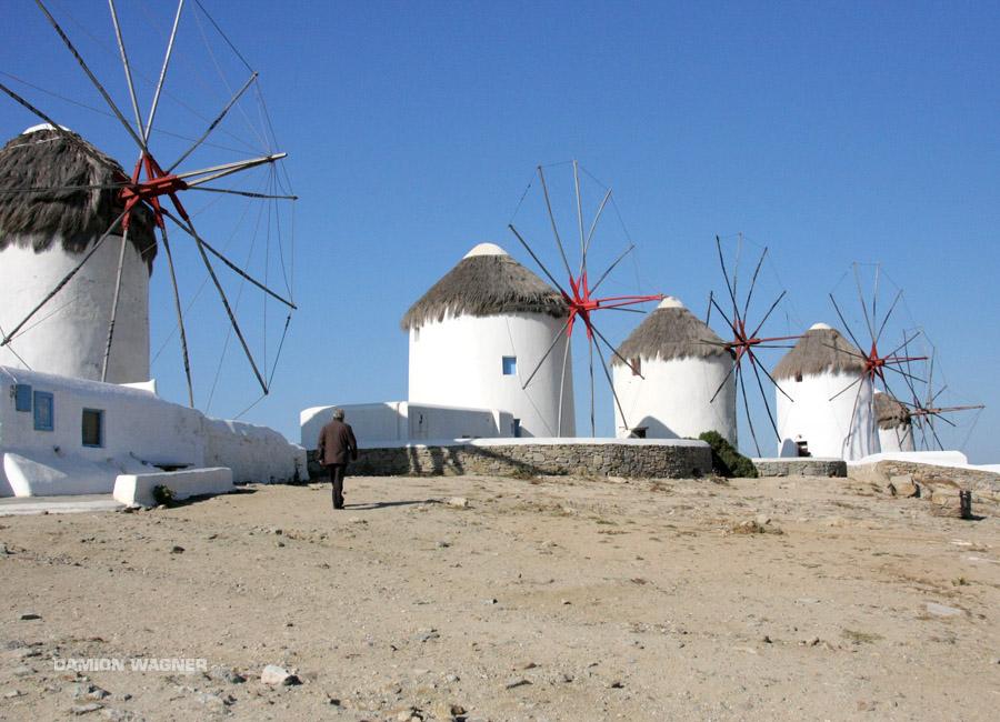 Windmills Of Mykonos Greece