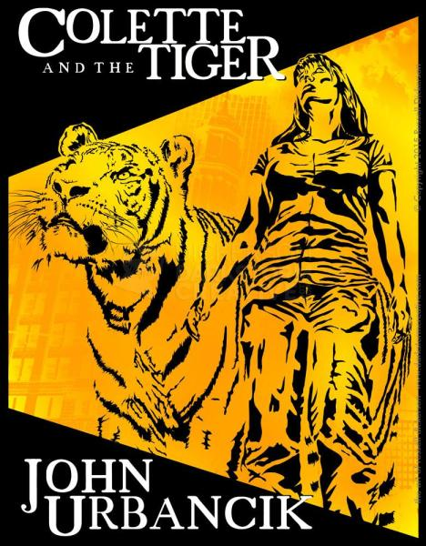 Cover design, Colette and the Tiger, art of russell dickerson