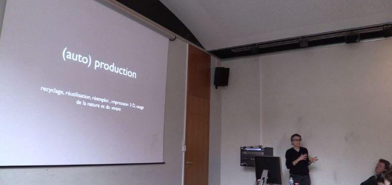 «  Design & (Auto) production » par Claire Fayolle