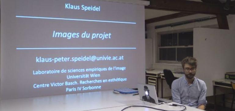 """Klaus-Peter Speidel """"Les images du projet, Narration visuelle et récit iconique"""""""
