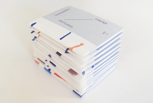 Sonnenzimmer,      The Impossibility of Language of Construction, 2015. Artist book.
