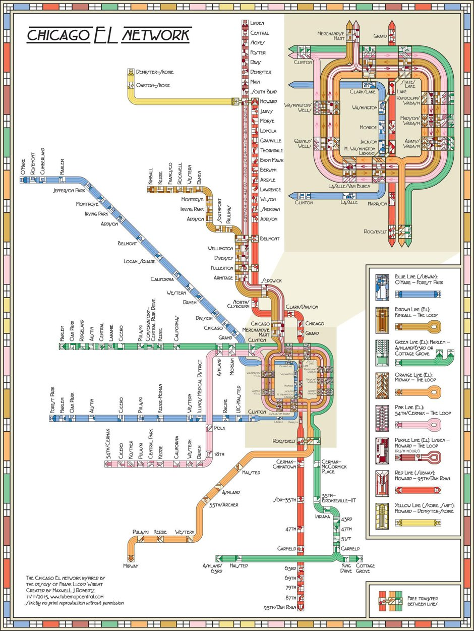 seeing the cta wright the transit system remapped via frank lloyd