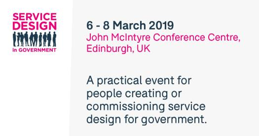 Poster for Service Design in Government 2019