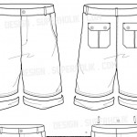 Short pants vector