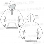 hooded shirt template henley neck