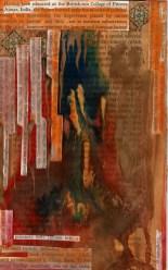 Oman Sultan in his lair - acriylic and watercolour drip image