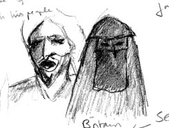 Bedouin husband and wife from video