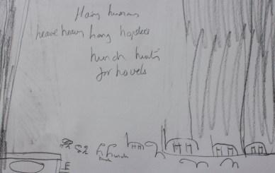 Letter H sketch