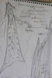 Letter M: sketch