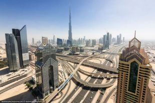 Dubai View From Building Rooftops (3)
