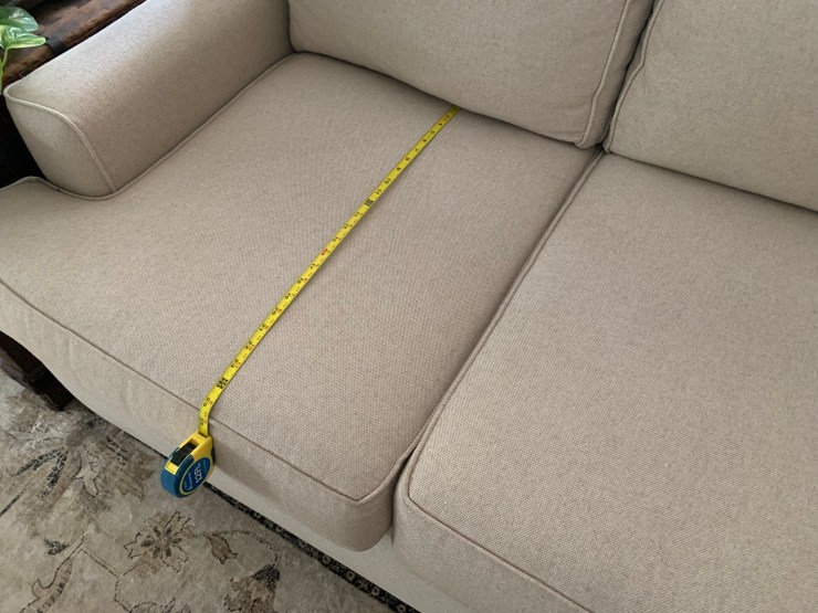 how to find depth of sofa cushion to make sofa shopping easier