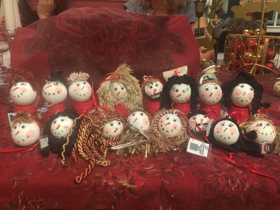 ornaments made from golf balls