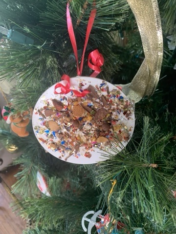 Holiday decorating with handmade ornaments