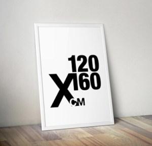 Vores store design-selv-plakat i 120x160 format