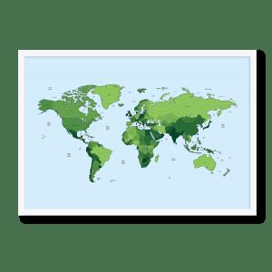 Grønt kort af verdenen