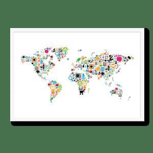 Verdenskort i ikoner