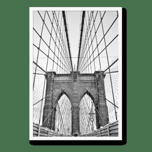 Brooklyn Bridge plakat, perfekt til dit hjem