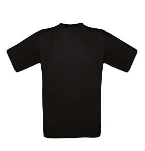 Sort børne t-shirt med eget billede, dette er t-shirtens ryg
