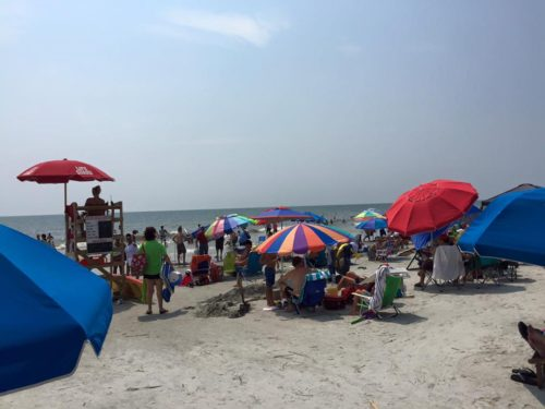 Labor Day Weekend on Coligny Beach I had never seen so many people on this beach!