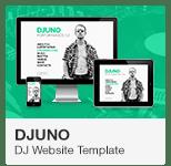 DJuno - DJ Website Adobe Muse Template