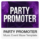 Party Promoter - Club Music Event Adobe Muse Template