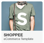 Shoppee - Stylish e-commerce Adobe Muse Template with Gumroad integration