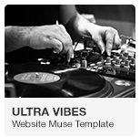 Ultra Vibes - DJ Music Podcast Website Adobe Muse Template