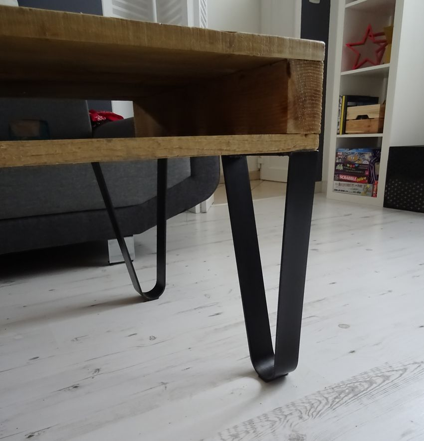 4 pieds cintres creation table basse diy