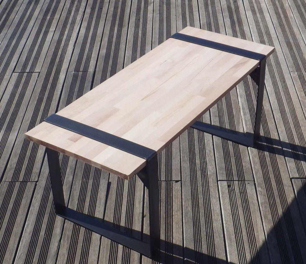 pieds acier etau creation table basse diy en 5 minutes