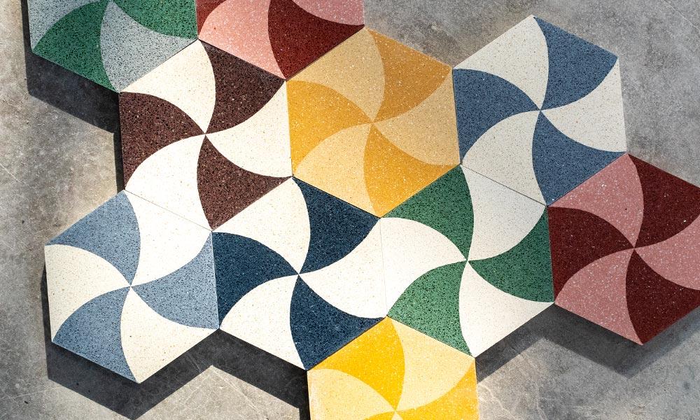 Hexagon mosaic granito collection