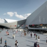 * Architecture: London Aquatics Centre for 2012 Summer Olympics by Zaha Hadid Architects