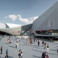 * Architecture: London Aquatics Centre for 2012 Summer Olympics by Zaha Hadid Architects