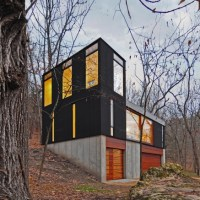 * Residential Architecture: Stacked Cabin by Johnsen Schmaling Architects