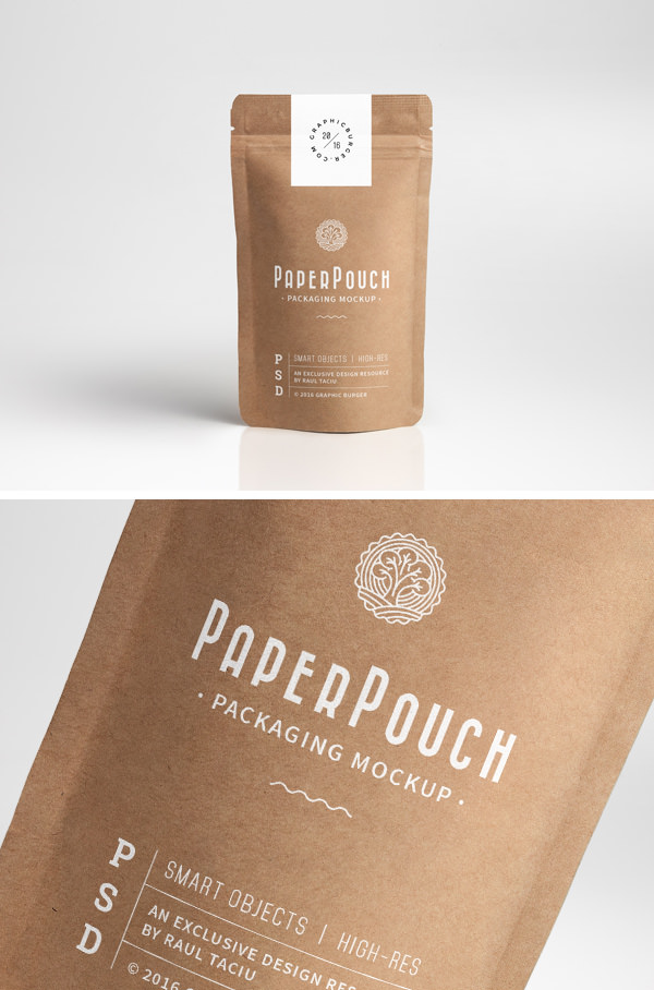 Download Paper Pouch Packaging Free Mockup » Design a Lot