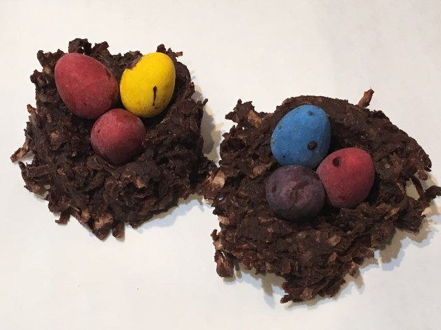 Coconut Nests with Cadbury Eggs