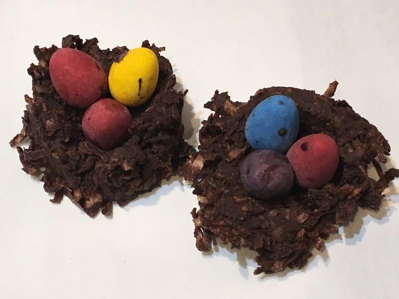 Coconut Nests with Cadbury Eggs